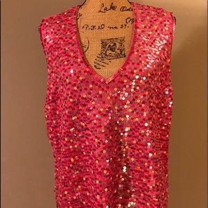 Brilliant Pink Sequined Top